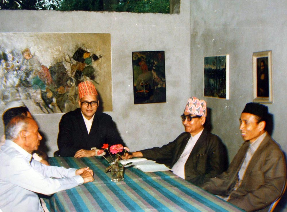 A view of the meeting of NAC executive - 1982