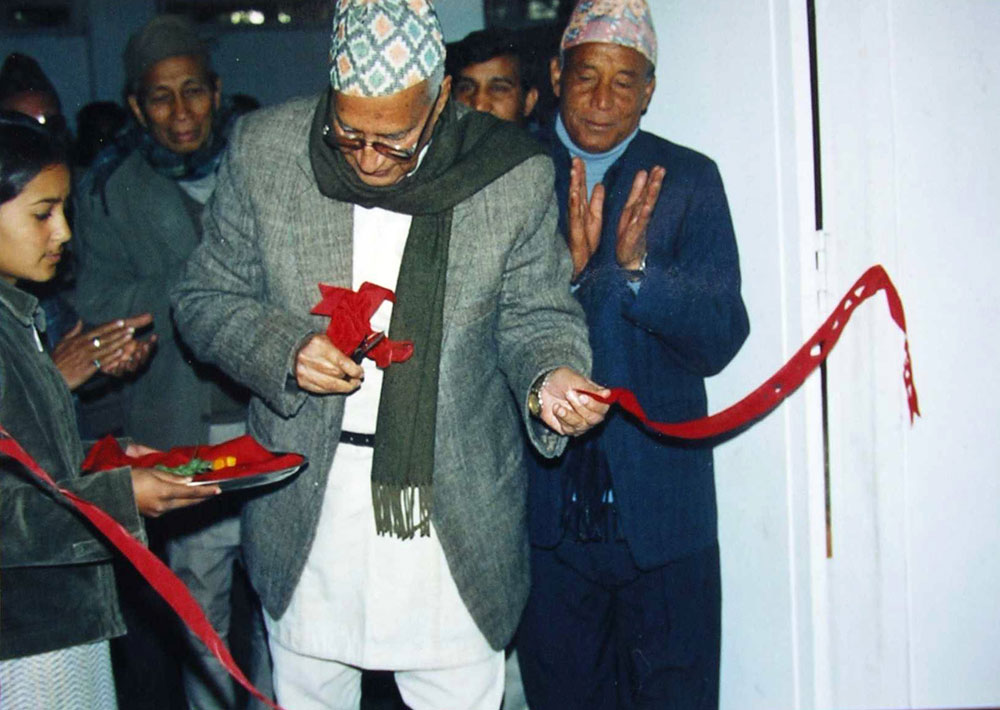"""Innuguration of the exhibition """"Rhythms of Recollection"""" of Hari Khadka's paintings - 2002"""